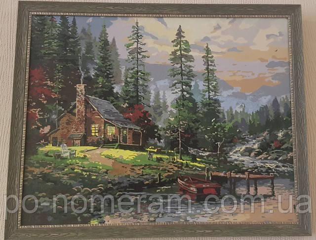 картина по номерам Томас Кинкейд Охотничий домик