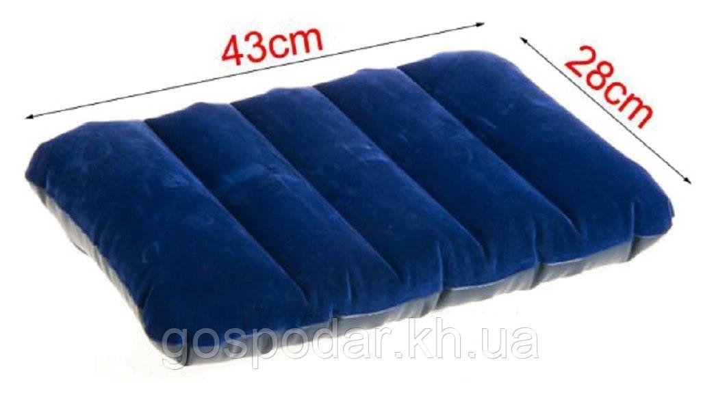 Надувна флокірована подушка Intex 68672.