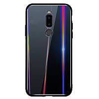TPU+Glass чехол Gradient Aurora для Meizu X8 (Черный)