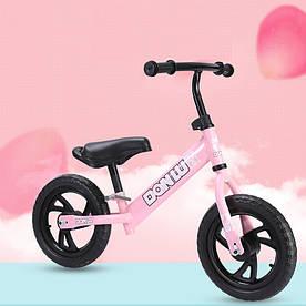 """Беговел Danlu Balance Bike 12"""" с проколостойкими шинами розовый"""
