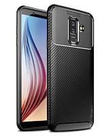TPU чехол iPaky Kaisy Series для Samsung Galaxy A6 Plus (2018) / Galaxy J8 (2018) (Черный)