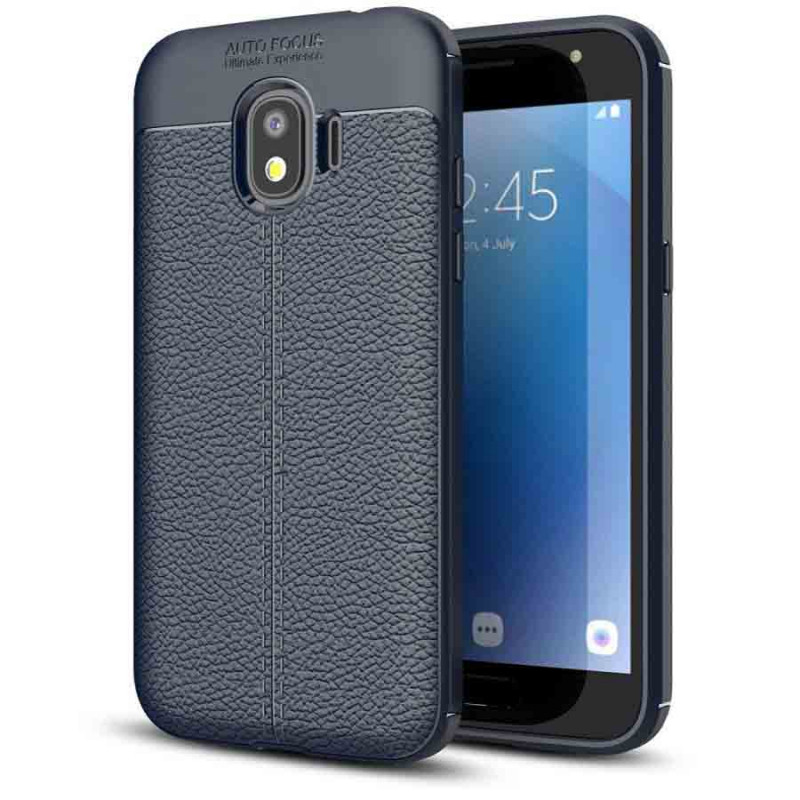 TPU чехол фактурный (с имитацией кожи) для Samsung J250F Galaxy J2 Pro (2018)