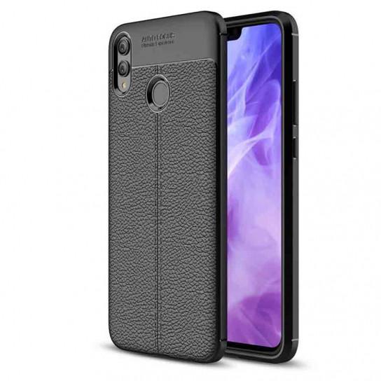 TPU чехол фактурный (с имитацией кожи) для Huawei Honor 8X