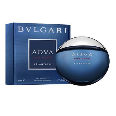 Мужские духи туалетная вода BVLGARI Aqva Pour Homme Atlantique 50ml, свежий амбровый морской ОРИГИНАЛ