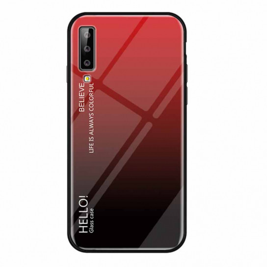 TPU+Glass чехол Gradient HELLO для Samsung A750 Galaxy A7 (2018)