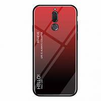 TPU+Glass чехол Gradient HELLO для Meizu M6T (Красный)