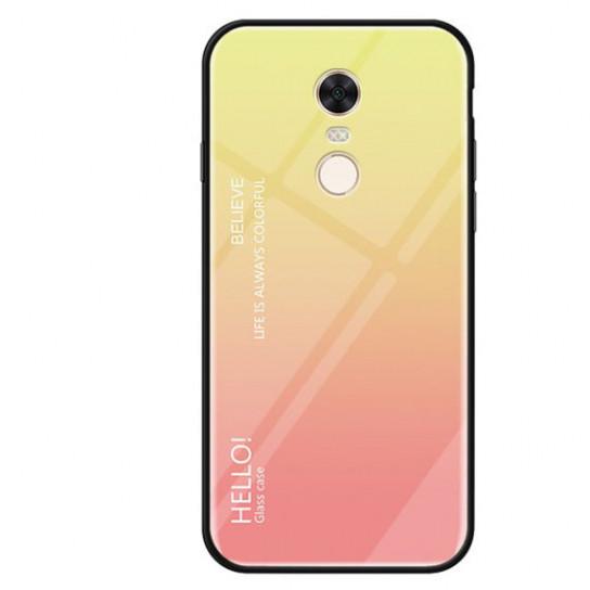 TPU+Glass чехол Gradient HELLO для Xiaomi Redmi Note 4X / Note 4 (SD)