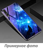 TPU+Glass чехол Fantasy с глянцевыми торцами для Huawei Honor 8X Max (Лунная ночь)