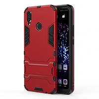 Ударопрочный чехол-подставка Transformer для Huawei P Smart+ (nova 3i) с мощной защитой корпуса (Красный / Dante Red)