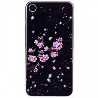 """TPU+Glass чехол Fantasy с глянцевыми торцами для Apple iPhone XR (6.1"""") (Цветение)"""