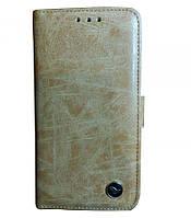 """Кожаный чехол-книжка Bird с визитницей и подставкой для Apple iPhone X (5.8"""") (Светло-коричневый)"""