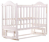 Кровать Babyroom Дина D201 маятник  белая