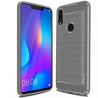 TPU чехол iPaky Slim Series для Huawei P Smart+ (nova 3i) (Серый)