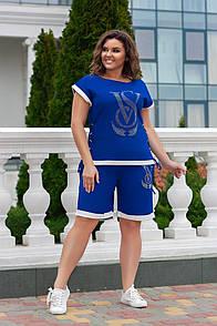 Спорт костюм(шорты+футболка)  Ткань-двунитка  Размеры-4850;5254;5658 №169
