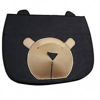 Кожаный чехол-книжка TTX Bear Face с подставкой для Apple iPad mini (Retina)/Apple iPad mini 3 (Черный)