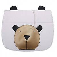 Кожаный чехол-книжка TTX Bear Face с подставкой для Apple iPad mini (Retina)/Apple iPad mini 3 (Белый)