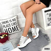 Кросівки жіночі літні срібло, фото 1
