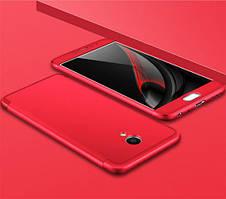 Пластиковая накладка GKK LikGus 360 градусов для Meizu M5 Note (Красный)