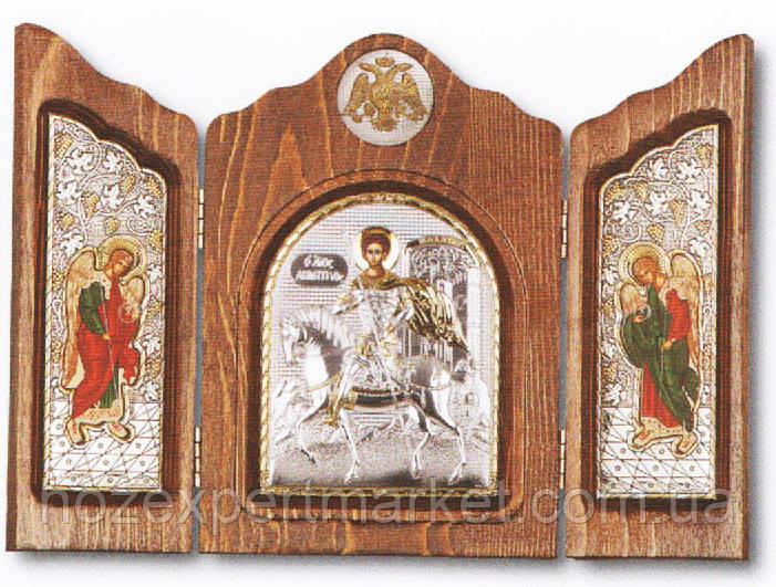 Складень триптих со Святым Георгием