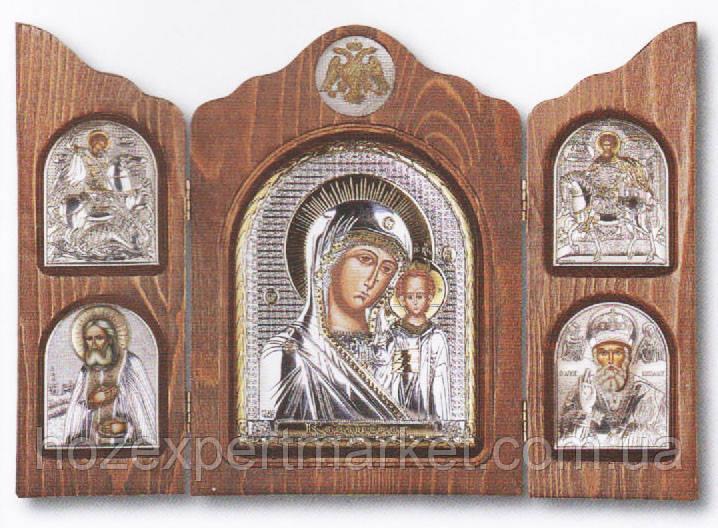 Складень триптих с Богородицей
