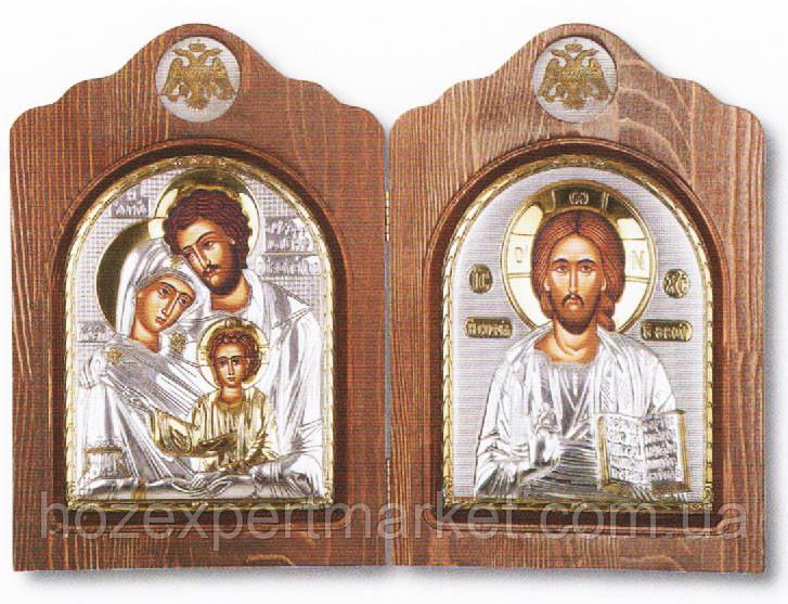 Складень диптих со Святым Семейством и Спасителем