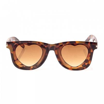 Солнцезащитные очки  Женские цвет Коричневый Линза-поликарбонат ( 1812-01 ), фото 2