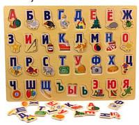 Деревянный пазл-вкладыш Русский Алфавит Candywood