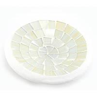 Блюдо терракотовое с белой мозаикой 11 см 30266A