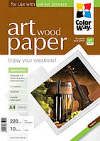 "Фотопапір ColorWay ART глянцевий фактура ""дерево"" 230 г/м², A4, 10 арк. (PGA230010WA4)"