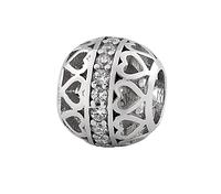 Шарм серебряный с камнями П-037р
