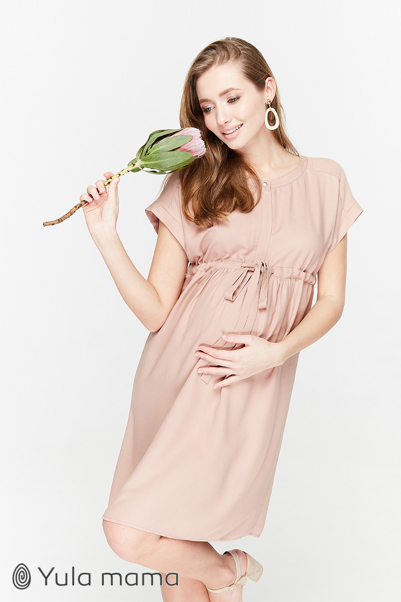 Воздушное платье из вискозы для беременных и кормящих мам размер 42 44 46 48 50
