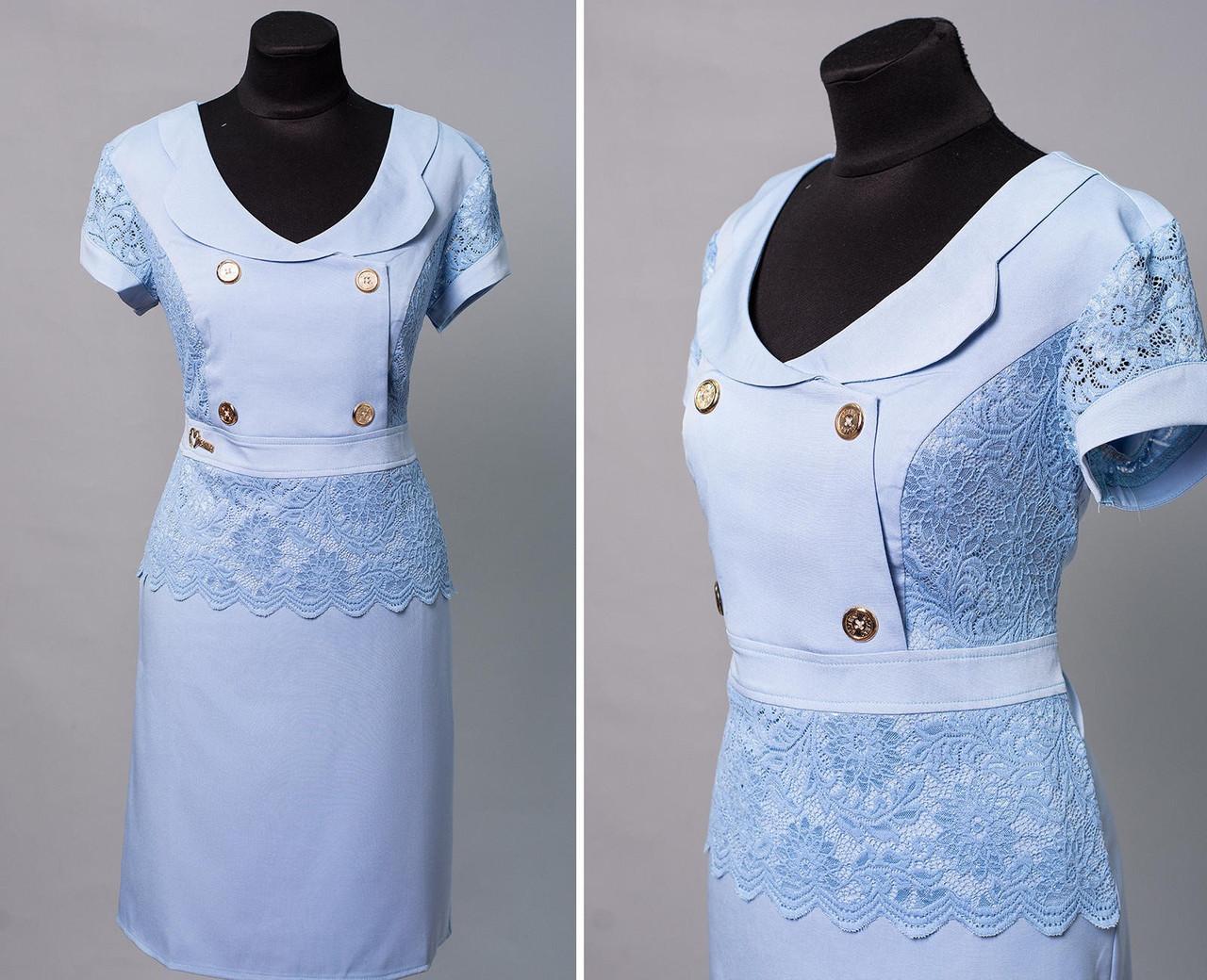 """Женское платье с нежным кружевом ткань """"Костюмная ткань"""" 50, 52, 54 размер батал"""