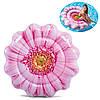 Надувной пляжный матрас Intex Розовый цветок  142*142 см (58787)