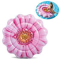 Надувной пляжный матрас Intex Розовый цветок  142*142 см (58787), фото 1