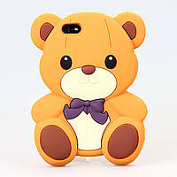 Чехол Teddy Bear для iPhone 5/5s коричневый