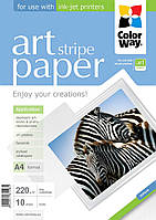 "Фотопапір ColorWay ART матовий фактура ""смужки"" 220 г/м², A4, 10 арк. (PMA220010SA4)"