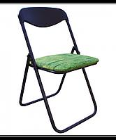 Металлический раскладной стул с мягким сидением