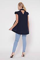 Блузка Розмари Синяя Размеры  50, 52, 54, 56, 58., фото 2
