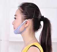 Маска - бандаж из силикона для лифтинга нижней части лица и устранения второго подбородка