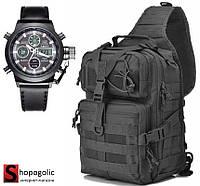 Тактический Штурмовой Рюкзак 12л в комплекте с Мужскими Наручными Часами АМСТ 3003