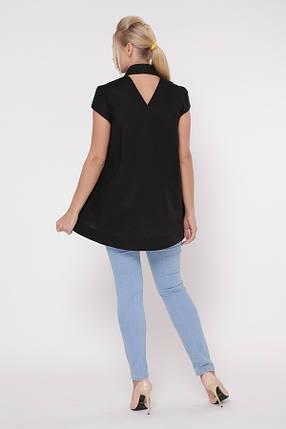 Блузка Розмари Черный  Размеры  50, 52, 54, 56, 58., фото 2