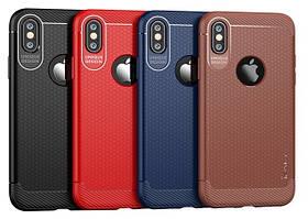 "TPU чехол iPaky Laise Series для Apple iPhone X (5.8"") (Синий)"