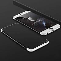 """Пластиковая накладка GKK LikGus 360 градусов для Apple iPhone 6/6s plus (5.5"""") (Черный / Серебряный)"""