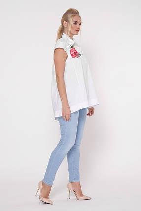 Блузка Розмари Белый Размеры  50, 52, 54, 56, 58., фото 2