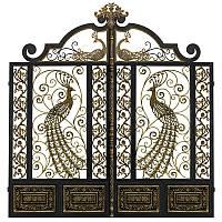 Кованые ворота Павлин - Райская птица