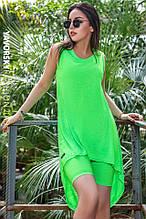 Платье молодежное из хлопка  размер  42 -48 цвет зеленый