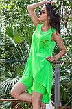 Платье молодежное из хлопка  размер  42 -48 цвет зеленый, фото 2
