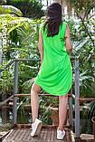 Платье молодежное из хлопка  размер  42 -48 цвет зеленый, фото 6