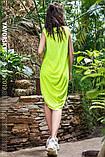 Платье молодежное из хлопка  размер  42 -48 цвет зеленый, фото 7
