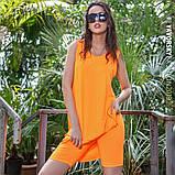 Платье молодежное из хлопка  размер  42 -48 цвет зеленый, фото 3